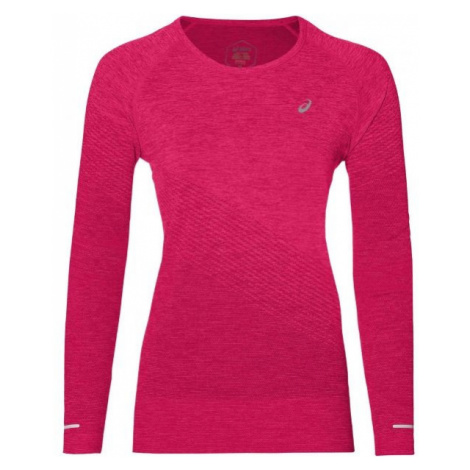 Asics SEAMLESS LS TEXTURE pink - Women's sports T-shirt