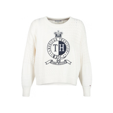 Tommy Hilfiger VALOUNE C-NK SWTR women's Sweater in White