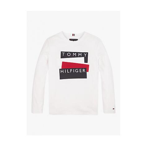 Tommy Hilfiger Boys' Sticker Print T-Shirt, White