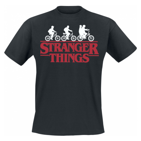 Stranger Things - Bike Club - T-Shirt - black