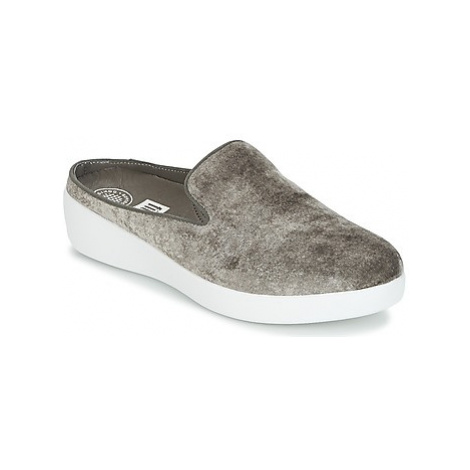 FitFlop SUPERSKATE MULES IN VELVET women's Mules / Casual Shoes in Grey