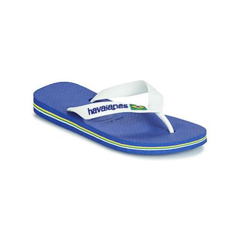 Havaianas BRASIL LOGO girls's Children's Flip flops / Sandals in Blue