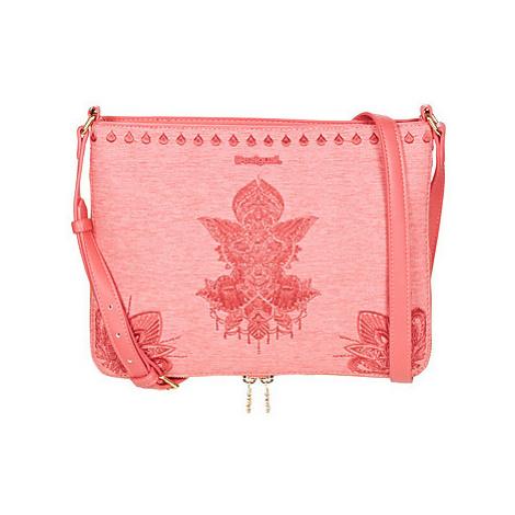 Desigual REP SOFT MEHNDI MOLINA women's Shoulder Bag in Pink