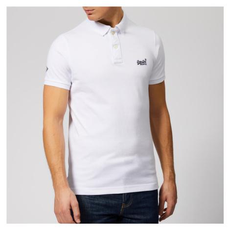 Superdry Men's Classic Pique Polo Shirt - Optic White