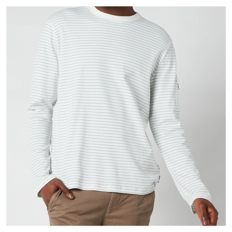 Ted Baker Men's Melted Striped Long Sleeve Top - White - 6/XXL