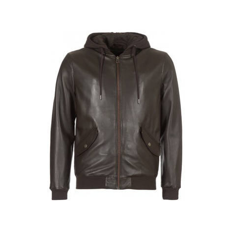 Chevignon MIGHTY men's Leather jacket in Brown