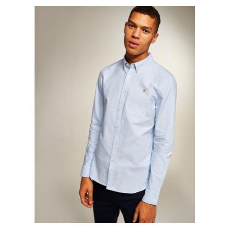 Mens Farah Sky Blue 'Brewer' Slim Long Sleeve Shirt*, BLUE