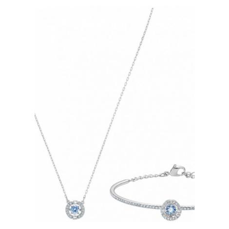 Ladies Swarovski Jewellery Sparkling Set Blue