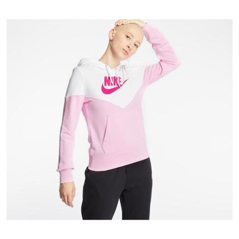 Nike Sportswear Heritage Hoodie Pink Rise/ White/ Fire Pink