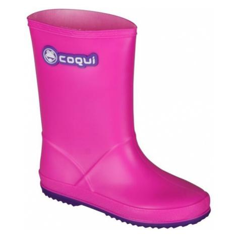 Coqui RAINY pink - Children's wellies