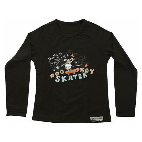 T-Shirt Lasting Skater LS - 9090/Black - boy´s