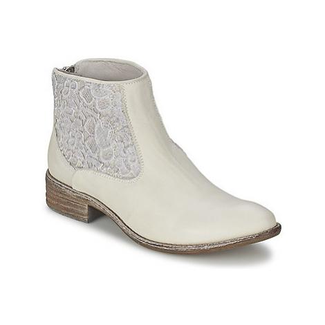 Meline GISELE women's Mid Boots in White