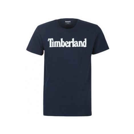 Timberland SS KR Linear regular tee DARK SAPPHIRE men's T shirt in Blue