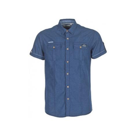 Deeluxe ISLANDO men's Short sleeved Shirt in Blue