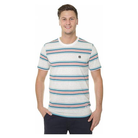 T-Shirt adidas Originals Yarn Dye - Pale Melange/Gray One/Shock Green/Noble Indigo