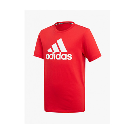 Adidas Boys' Logo Training T-Shirt, Red