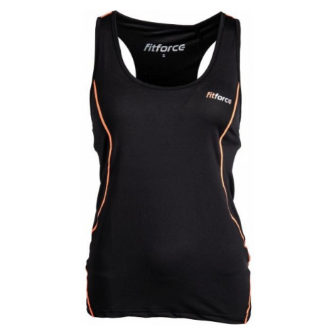 Fitforce BEATRICE black - Women's top with a built-in bra