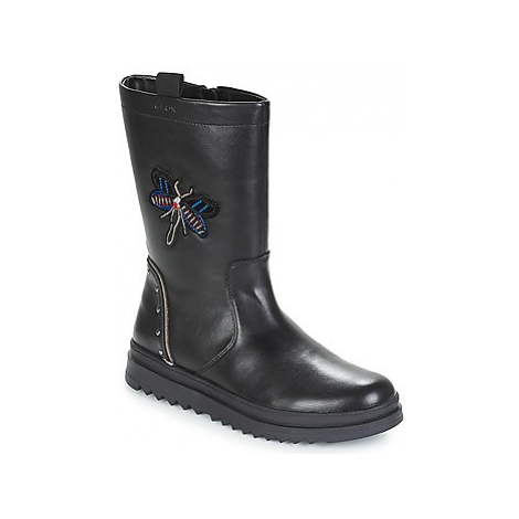 Geox J GILLYJAW GIRL girls's Children's High Boots in Black