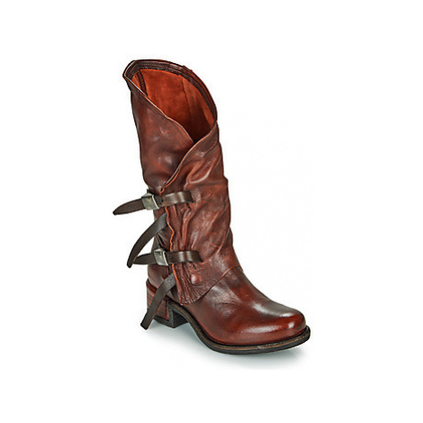 Airstep / A.S.98 ISPERIA BUCKLE women's High Boots in Red