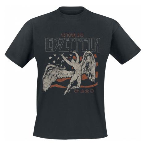 Led Zeppelin US Tour 1975 Flag T-Shirt black