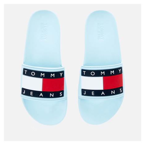 Tommy Jeans Women's Flag Pool Slide Sandals - Sail Blue - UK Tommy Hilfiger