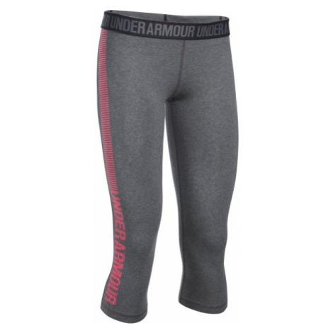 Under Armour FAVORITE CAPRI - GRAPHIC gray - Women's tights