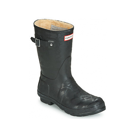 Hunter ORIGINAL INSULATED SHORT women's Wellington Boots in Black