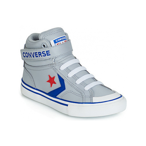 Converse PRO BLAZE STRAP LEATHER HI girls's Children's Shoes (High-top Trainers) in Grey