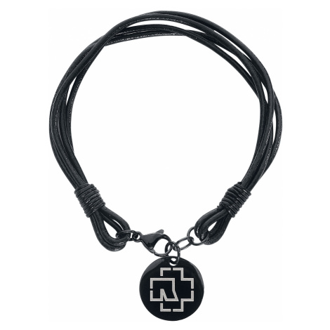 Rammstein - Rammstein Logo - Leather bracelet - black