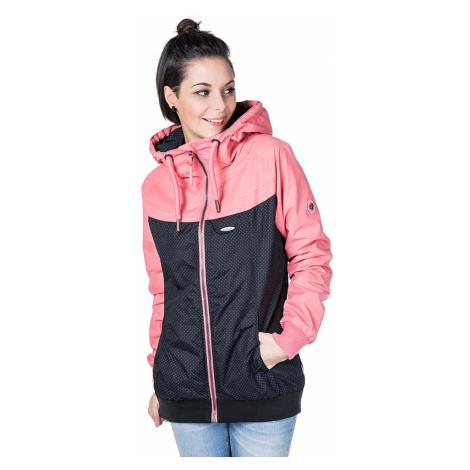 jacket ALIFE AND KICKIN Black Mamba B - Coral Circles - women´s