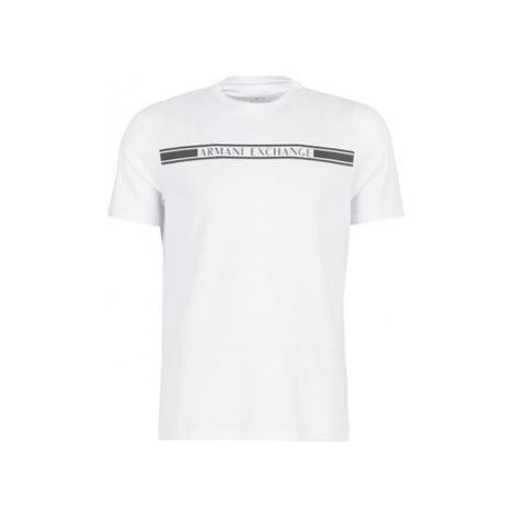 Armani Exchange 6GZTAU-ZJA5Z-1100 men's T shirt in White