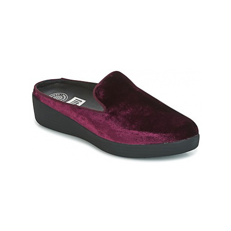 FitFlop SUPERSKATE MULES IN VELVET women's Mules / Casual Shoes in Purple