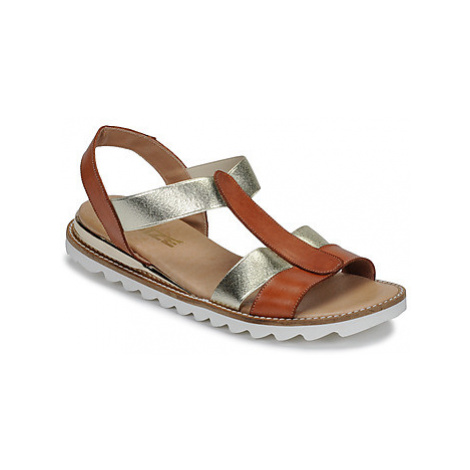 So Size ISIBULA women's Sandals in Brown