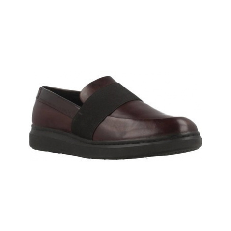 Geox D JERRICA women's Loafers / Casual Shoes in Brown