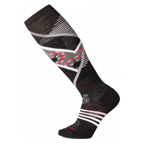 Smartwool PHD SKI LIGHT ELITE PATTERN W black - Women's ski socks