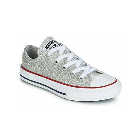 Converse CHUCK TAYLOR ALL STAR SPARKLE SYNTHETIC OX girls's Children's Shoes (Trainers) in Grey