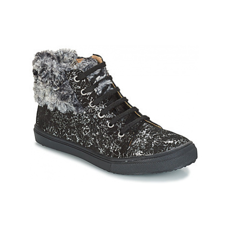 GBB ROBERTA girls's Children's Shoes (High-top Trainers) in Black