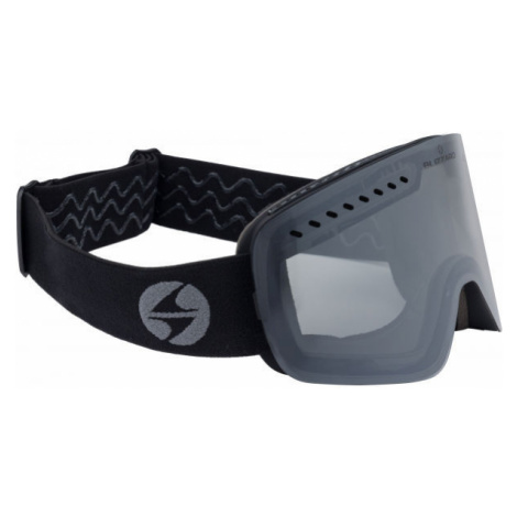 Black snowboarding equipment