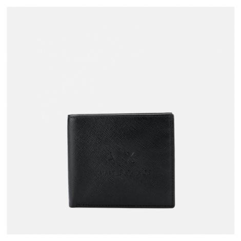 Armani Exchange Men's AX Logo Bifold Wallet with Credit Card Holder - Black