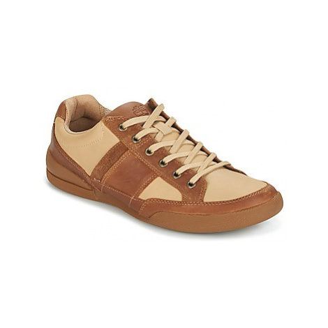 Timberland SPLIT CUPSOLE MIXED MEDIA men's Shoes (Trainers) in Beige
