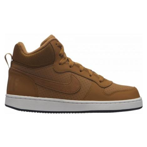 Nike COURT BOROUGH MID GS brown - Children's leisure shoes