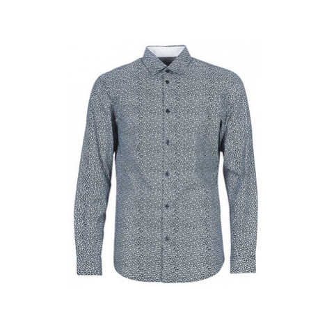 Selected SLHSLIMNEW men's Long sleeved Shirt in Blue