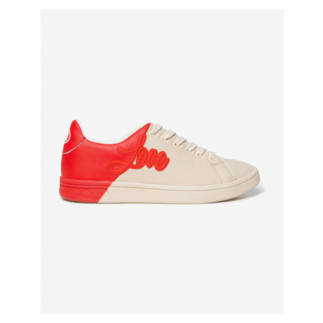 Desigual Sneakers Red Beige