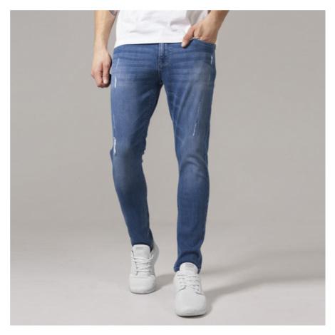 Urban Classics Skinny Ripped Stretch Denim Pants blue washed