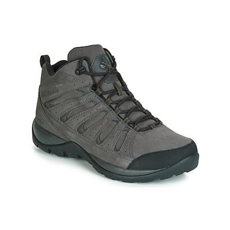Columbia REDMOND V2 LEATHER MID WATERPROOF men's Walking Boots in Grey
