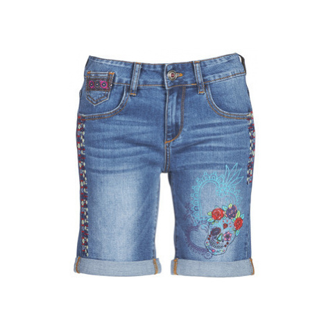 Desigual CATRINA women's Shorts in Blue