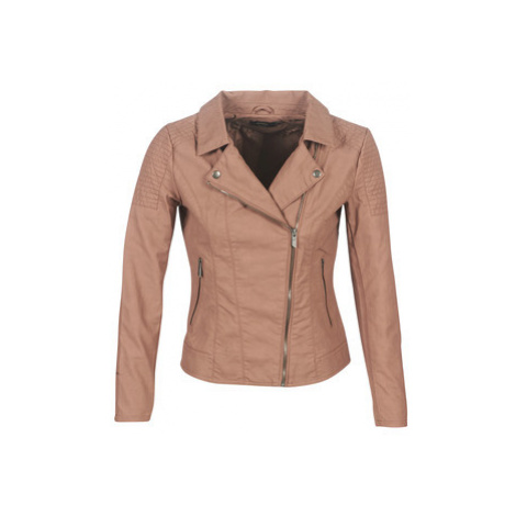 Only ONLMEGAN women's Leather jacket in Brown