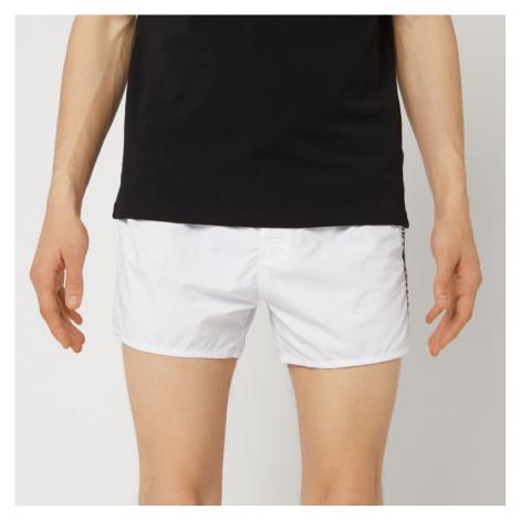 Emporio Armani Men's Embroidered Swim Shorts - White - EU 50/M - White