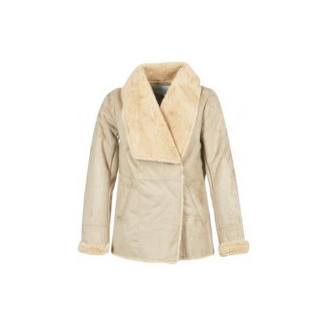 Vila VIPONY women's Coat in Beige