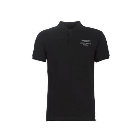 Hackett HM562482-999 men's Polo shirt in Black